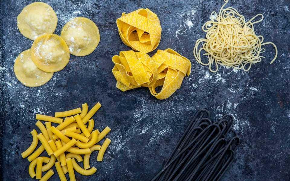 pasta på vetemjöl
